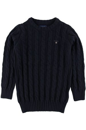 GANT Stickade tröjor - Tröja - Stickad - Cable - Marinblå