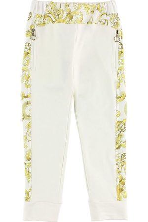 VERSACE Young Sweatpants - Creme m. Mönster
