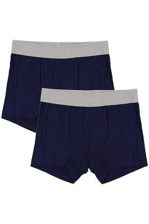 Minymo Pojke Kalsonger - Boxershorts - 2-pack - Bambu - Marinblå