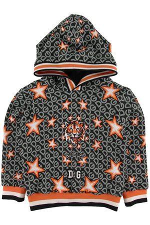 Dolce & Gabbana Hoodie - Koksgrå m. Print
