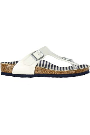 Birkenstock Sandaler - Gizeh - Nautical Stripes White