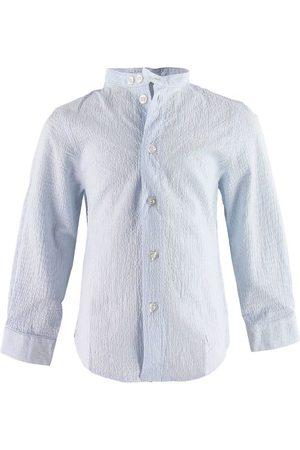 Emporio Armani Skjorta - Blå/Vitrandig
