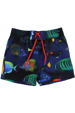 Paul Smith Junior Badshorts - Toshiro - Marinblå m. Fisk
