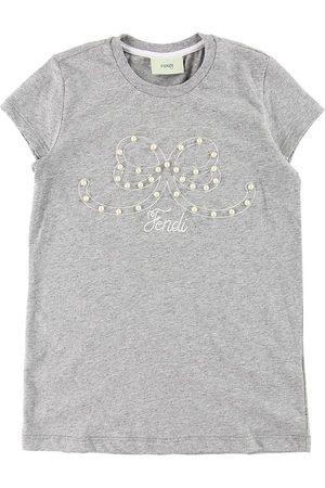 Fendi Kids T-shirt - Gråmelerad m. Pärlor