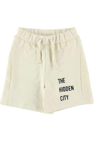 Gro Pojke Sweatshirts - Shorts - Sweat - Creme m. Text