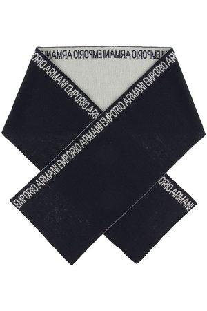 Emporio Armani Halsduk - 160x20 - Ull/Akryl - Marinblå
