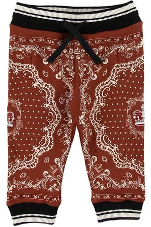Dolce & Gabbana Pojke Joggingbyxor - Sweatpants - Bordeaux m. Mönster