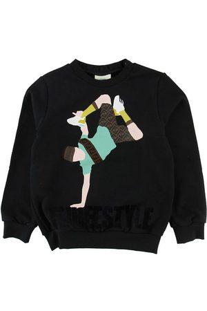 Fendi Pojke Sweatshirts - Sweatshirt m. Huva - m. Breakdancer/Text