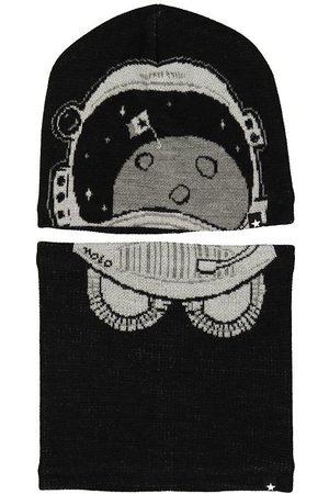 Molo Mössa m. Tubhalsduk - Kleo - Ull/Polyester - Very Black m.