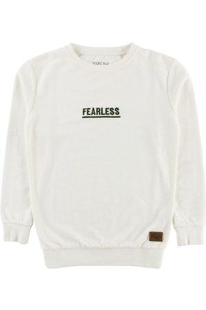 Hound Pojke Sweatshirts - Sweatshirt - Offwhite m. Militärgrön