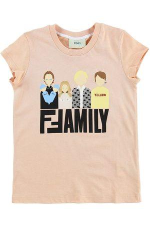 Fendi Flicka T-shirts - Kids T-shirt - Puder m. Family