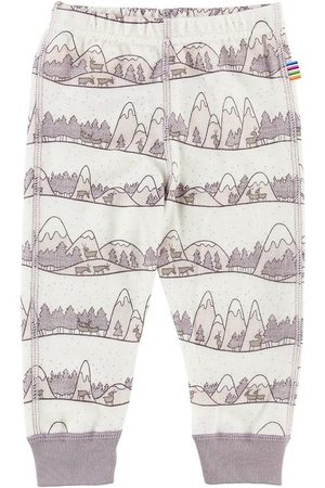 Joha Leggings - Ull/Bambu - Creme/Lavendel