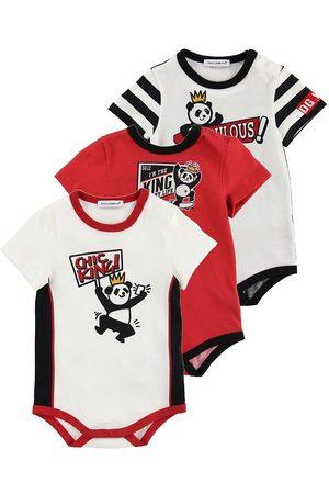 Dolce & Gabbana Pojke Bodys - Body K/Ä - 3-pack - / m. Panda
