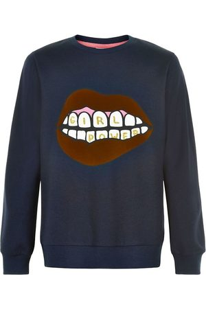 The New Flicka Kavajer - Sweatshirt - Elexa - Navy Blazer m. Print