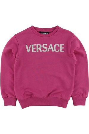 VERSACE Flicka Sweatshirts - Versace Sweatshirt - Fuchsia m. Logo