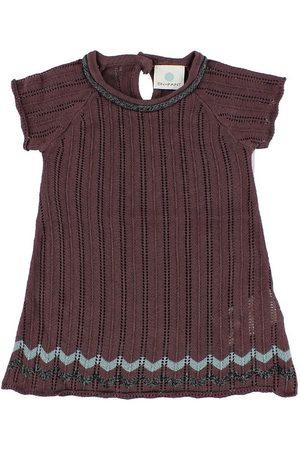 En Fant Stickad klänning - Bordeaux