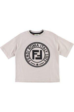 Fendi Flicka T-shirts - Kids T-shirt - Ljusbrun m. Logo