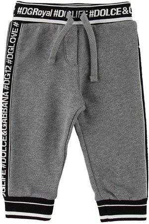 Dolce & Gabbana Flicka Joggingbyxor - Sweatpants - Gråmelerad