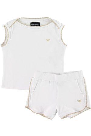 Emporio Armani Flicka Shorts - Set - T-shirt/Shorts - m. Guldglitter