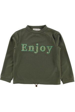 Hound Flicka Sweatshirts - Sweatshirt - Army m. Glittersten/Tryck