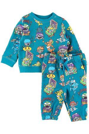 Stella McCartney Pojke Sweatshirts - Sweatset - Music Monsters - Petroleum