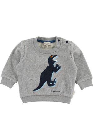 Paul Smith Baby Sweatshirt - Ventura - Gråmelerad m. Dinosaur