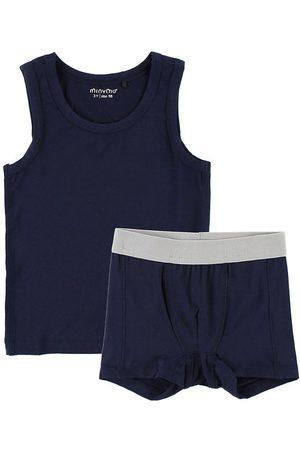 Minymo Pojke Underkläder - Underklädsset - Bambu - Marinblå