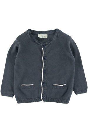 FIXONI Pojke Stickade tröjor - Cardigan - Stickad - Marinblå