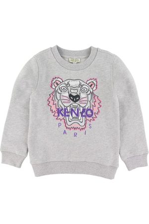 Kenzo Flicka Sweatshirts - Sweatshirt - Gråmelerad m. Tiger