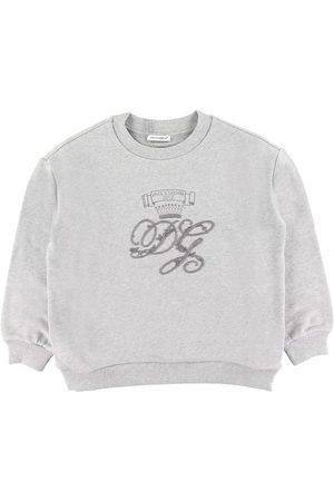 Dolce & Gabbana Flicka Sweatshirts - Sweatshirt - Gråmelerad m. Brodering