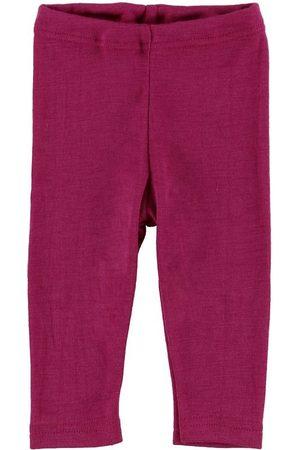 Engel Flicka Leggings - Leggings - Ull/Silke - Raspberry
