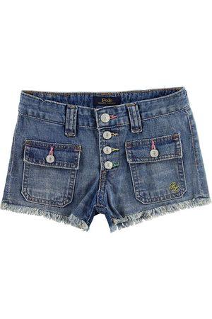 Ralph Lauren Flicka Shorts - Polo Shorts - Denim - m. Knappar