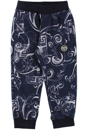 Versace Pojke Joggingbyxor - Young Sweatpants - Marinblå m. Tryck