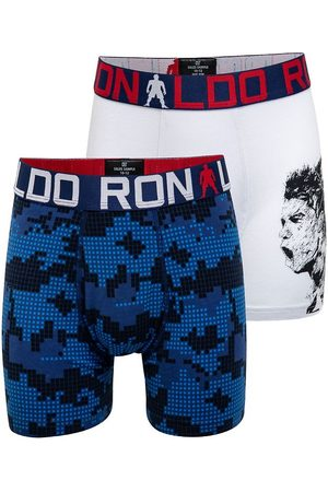 JBS Ronaldo Boxershorts - 2-pack - /Blå m. Tryck