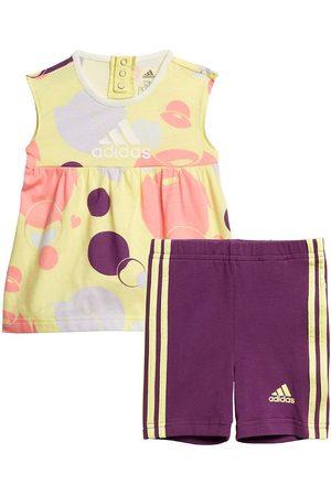 adidas Flicka Babyset - Set - Summer Set - Yellow Tint/Glory Purple