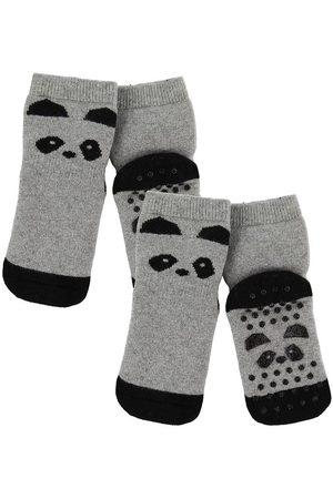 Liewood Strumpor - Halkskydd - 2-pack - Nellie - Panda Grey Mela