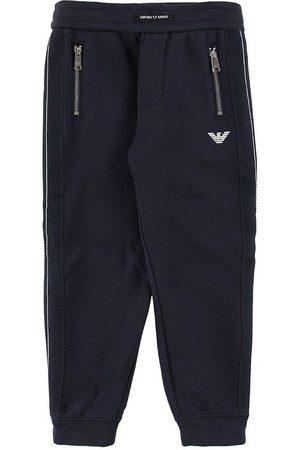 Emporio Armani Pojke Joggingbyxor - Sweatpants - Marinblå