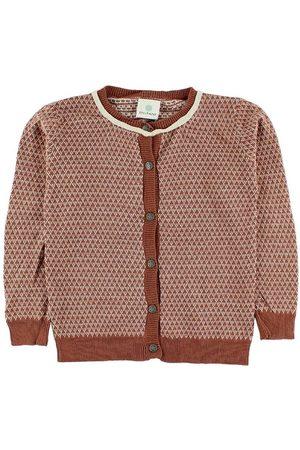 EN FANT Flicka Stickade tröjor - Stickad cardigan - Bränd m. Mönster