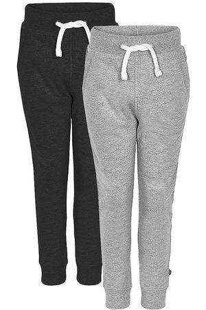 Minymo Sweatpants - 2-pack - /Gråmelerad