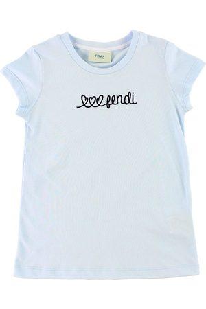 Fendi Flicka T-shirts - Kids T-shirt - Ljusblå m. Text