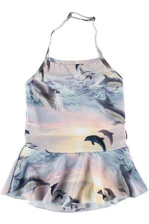 Molo Flicka Babyset - Baddräkt - UV50+ - Noelle - Dolphins Sunset