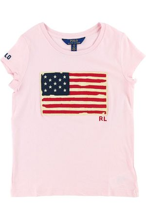 Ralph Lauren Polo T-shirt - m. Flagga