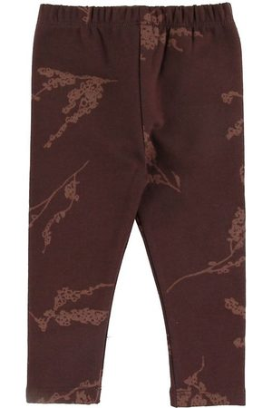 Gro Flicka Leggings - Leggings - Malak - Puce m. Blommor