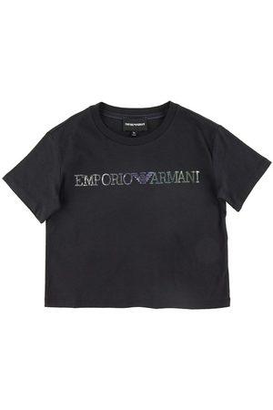 Emporio Armani T-shirt - Marinblå m. Paljetter