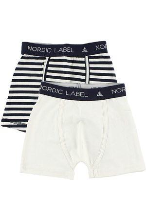 Nordic Label Boxershorts - 2-pack - Offwhite/Randig