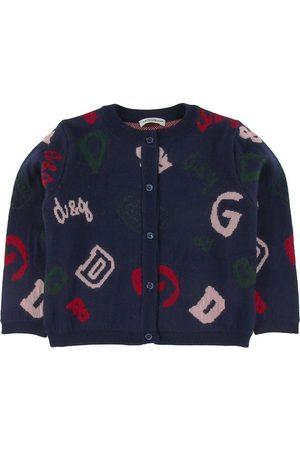 Dolce & Gabbana Cardigan - Ull - Marinblå m. Logotyper