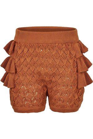 En Fant Flicka Trosor - Bloomers - Stickad - Leather Brown