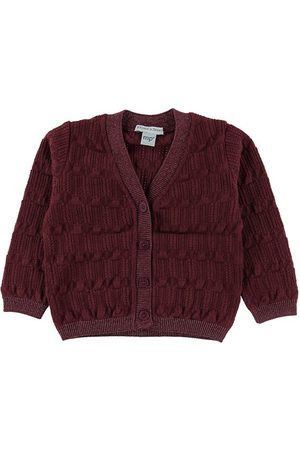 MP Strømper Flicka Cardigans - MP Cardigan - Ull/Bomull - Bordeaux m. Glitter