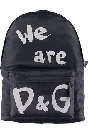 Dolce & Gabbana Ryggsäck - Marinblå m. Text