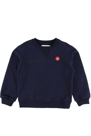 WoodWood Sweatshirts - Wood Wood Sweatshirt - Rod - Marinblå